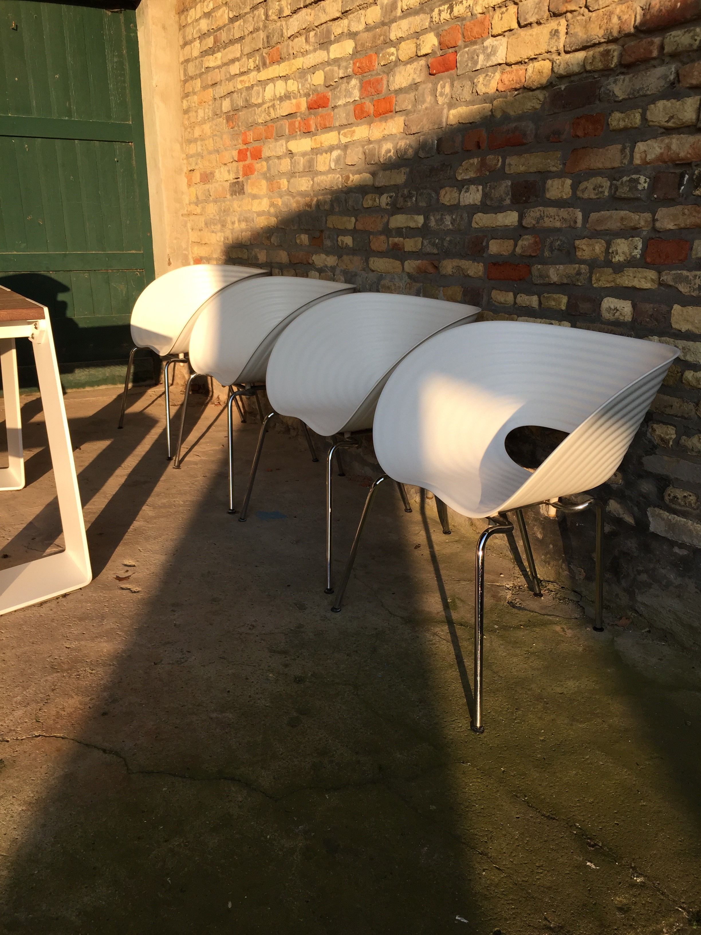 Gebruikte vitra stoelen for Philip starck stoel