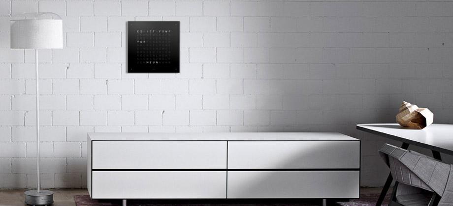 biegert und funk orologio qlocktwo di biegert funk. Black Bedroom Furniture Sets. Home Design Ideas