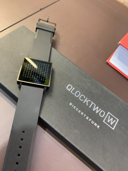 Verkocht, sorry! QLOCKTWO WATCH